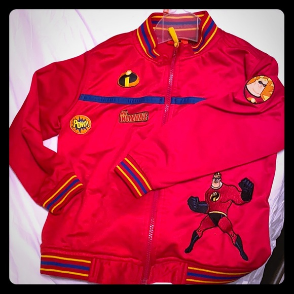 Vintage Incredibles Bomber jacket. Kids size 6x.